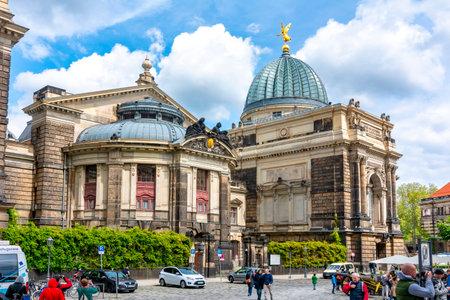 Neumarkt square architecture at Frauenkirche church, Dresden, Germany