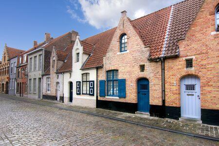 Średniowieczne ulice starej Brugii, Belgia