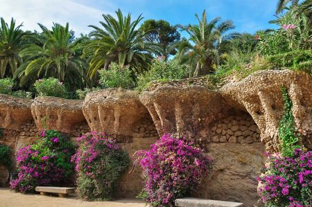 Park Guell in Barcelona, Spain Reklamní fotografie