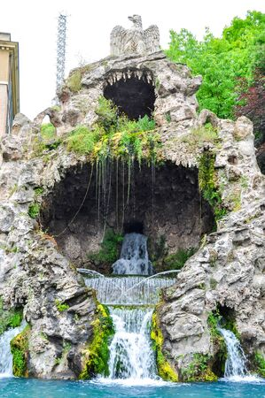 Eagle fountain in Vatican gardens
