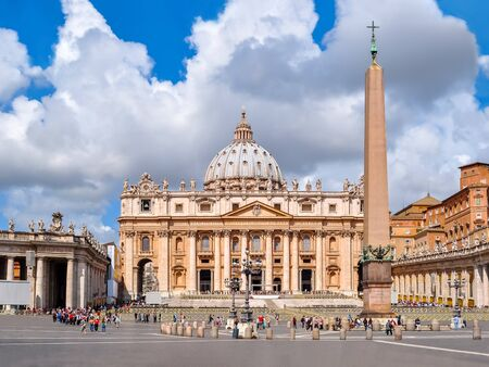 St. Peter's Basilica on Saint Peter's square in Vatican, center of Rome, Italy