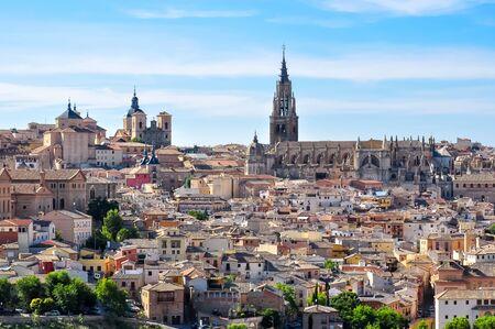 Toledo cityscape in summer, Spain