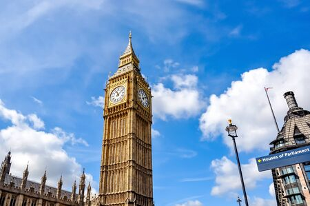Big Ben tower in London, United Kingdom Stock Photo
