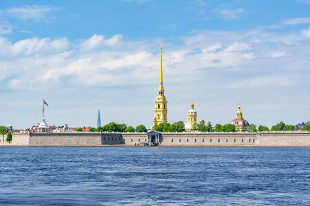 Peter and Paul Fortress and Neva river, Saint Petersburg, Russia Stock Photo