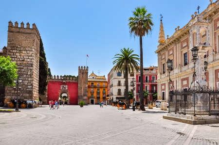Triumph Square (Plaza del Triumfo), Seville, Spain Foto de archivo