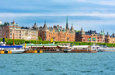 Strandvagen embankment architecture, Stockholm, Sweden