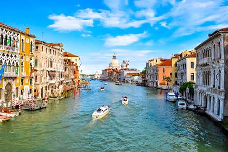 Venice Grand canal and Santa Maria della Salute church, Italy 版權商用圖片