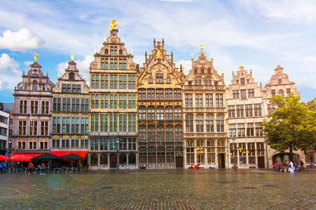 Market square architecture, center of Antwerp, Belgium