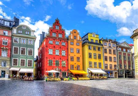 Stortorget square in Stockholm old town, Sweden Archivio Fotografico