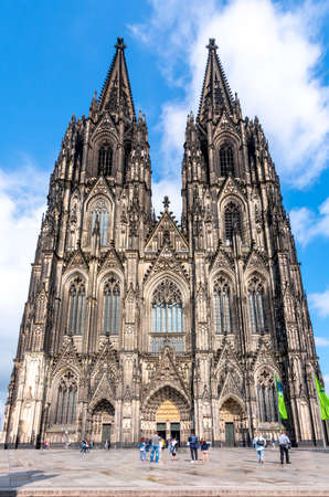 Cologne Cathedral facade and towers, Germany
