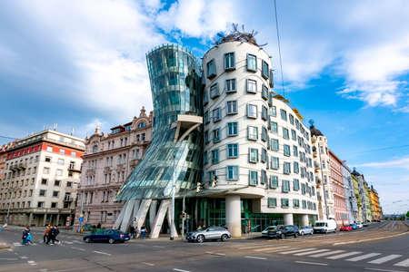Prague, Czech Republic - May 2019: Dancing House in Prague Standard-Bild