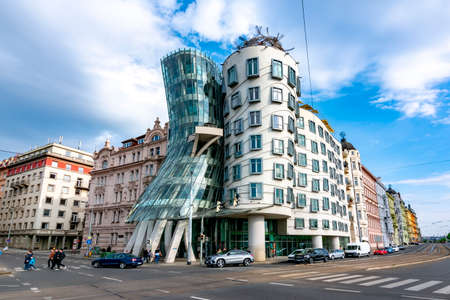 Prague, Czech Republic - May 2019: Dancing House in Prague