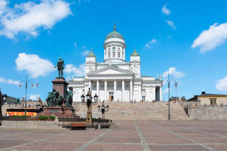 Helsinki Cathedral on Senate square, Finland Stockfoto