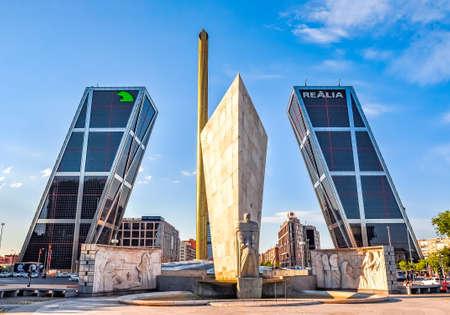 Gate of Europe (Puerta de Europa), twin tilting office buildings, Madrid, Spain