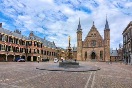 Hall of the Knights (Ridderzaal) in courtyard of Binnenhof (Dutch parliament), the Hague, Netherlands