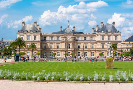 Luxembourg palace and gardens in Paris, France
