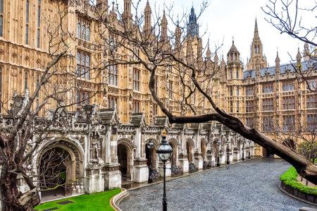 London, UK - April 2018: Westminster palace courtyard