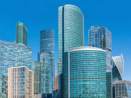 Skyscrapers of International Business Center (Moscow City), Russia
