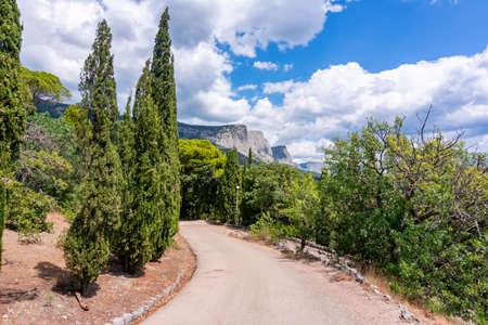 Foros park landscape in southern Crimea Foto de archivo