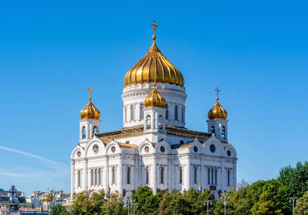 Cathedral of Christ the Savior (Khram Khrista Spasitelya) in Moscow, Russia