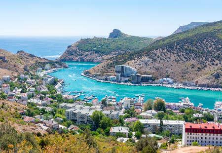 Balaklava cityscape in summer, Crimea peninsula