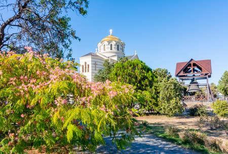 Vladimirsky Cathedral in Chersonesus, Sevastopol, Crimea 免版税图像