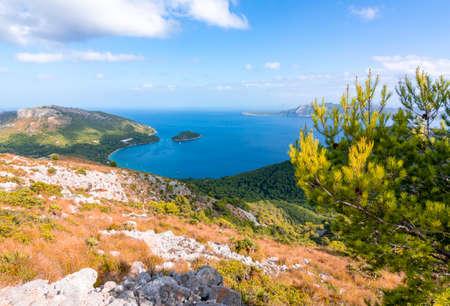 Bay of Formentor on Mallorca island, Spain 免版税图像