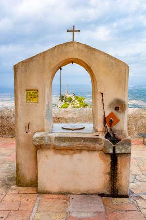 Well on top of Sant Salvador mountain, Mallorca, Spain