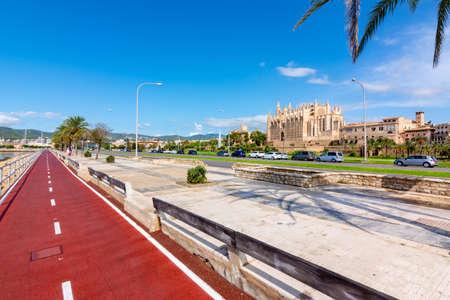 Sea promenade in Palma, Mallorca island, Spain
