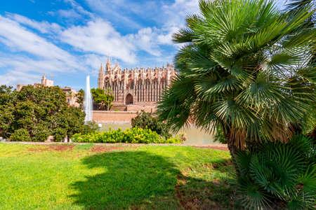 Cathedral of Santa Maria of Palma (La Seu) in Palma de Mallorca, Spain