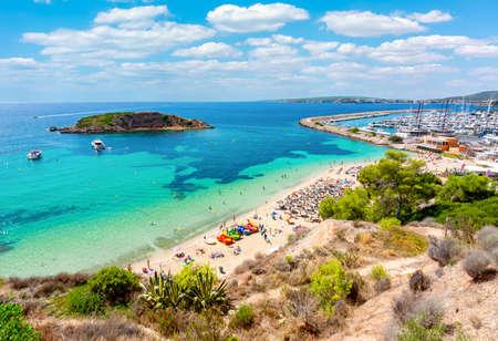 Portals Nous beach (playa) and port, Mallorca island, Spain
