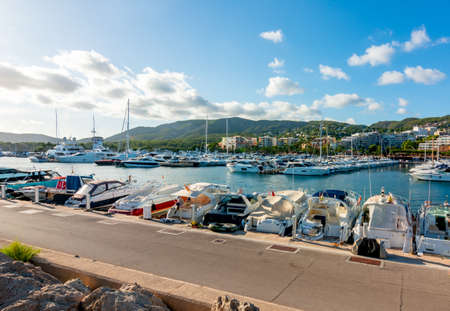 Boats and yachts in Portals Nous port, Mallorca island, Spain