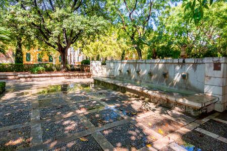 Fountains in center of Palma de Mallorca, Spain