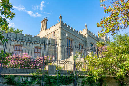 Vorontsov palace and gardens in Alupka, south Crimea