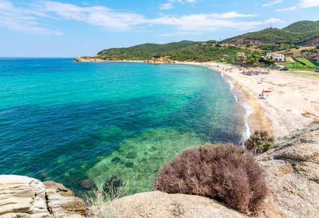 Platania beach on Sithonia peninsula, Chalkidiki, Greece