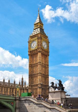 Big Ben tower  in London, United Kingdom Redactioneel
