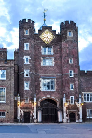 St. James's Palace in London at sunset, UK
