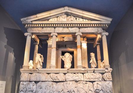 Mausoleum of Halikarnassos in British museum, London, UK Redactioneel