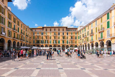 Palma de Mallorca, Spain - September 2018: Plaza Mayor (main square) in Palma Editorial