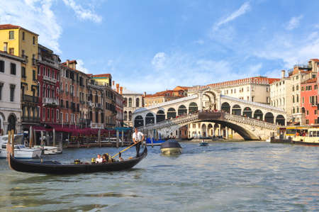 Rialto bridge and Grand canal, Venice, Italy
