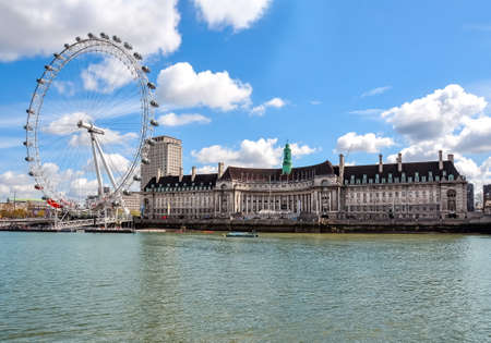 London, UK - April 2018: London Eye (Millenium wheel)
