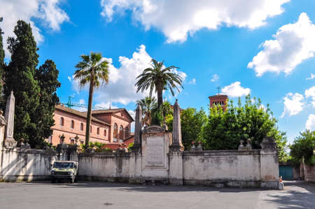 Knights of Malta Square in Rome, Italy Redactioneel