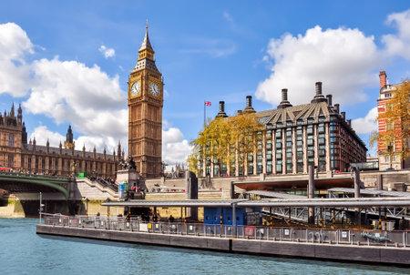 Big Ben tower and Portcullis House, London, UK