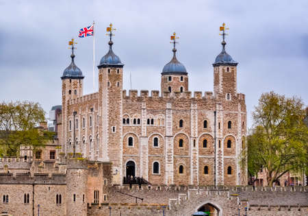 Tower of London in spring, United Kingdom
