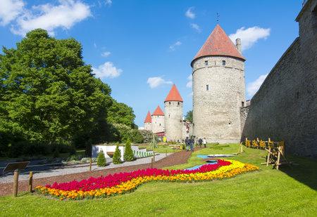 Walls of old Tallinn, Estonia