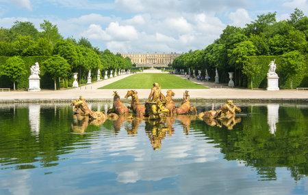 Apollo fountain in Versailles gardens, Paris, France