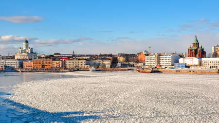 Helsinki cityscape in winter, Finland
