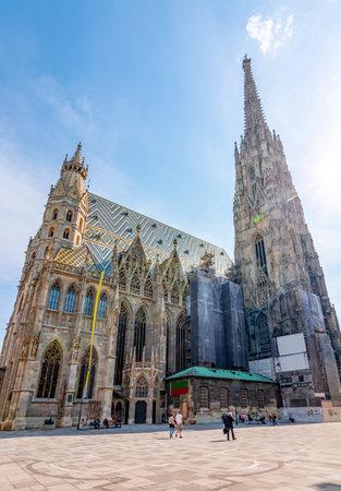 St. Stephen's Cathedral in center of Vienna, Austria