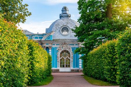 Grotto pavilion in Catherine park, Tsarskoe Selo (Pushkin), St. Petersburg, Russia