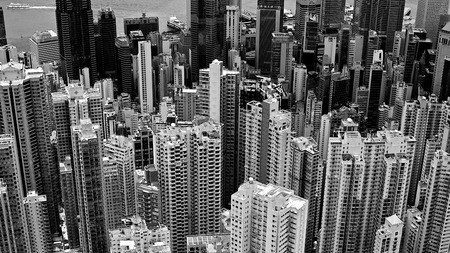 dense: A dense population in Hong Kong